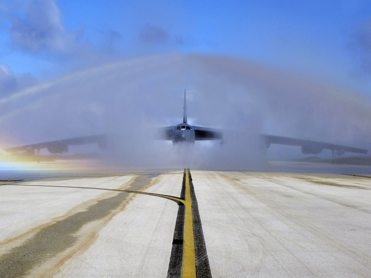 water spraying aircraft