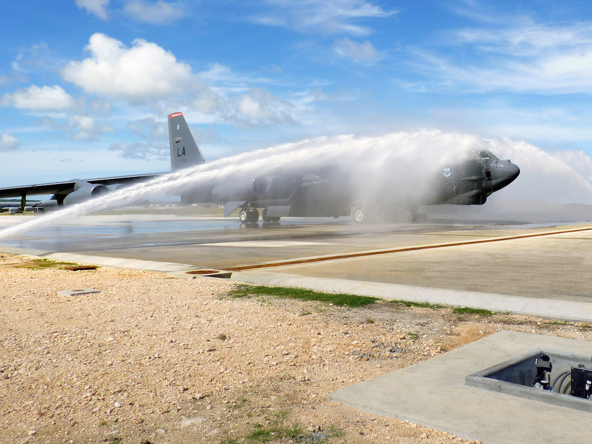 spraying off aircraft