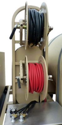 close-up of TAWS hoses