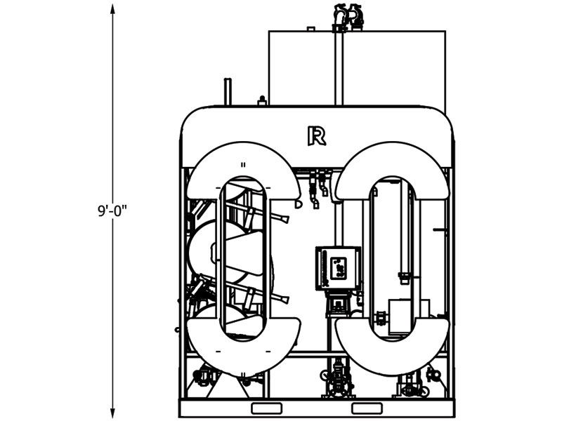 line drawing of wash system