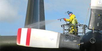 spraying aircraft