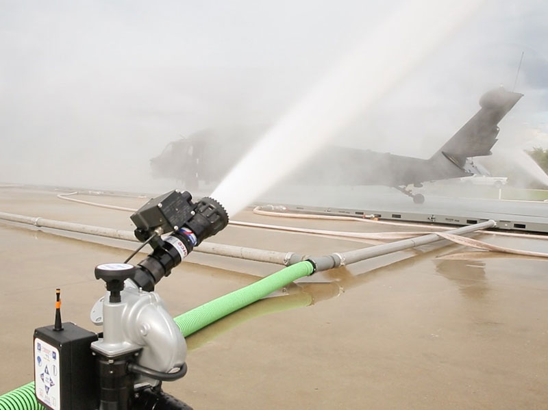 water spraying out of a rinse system