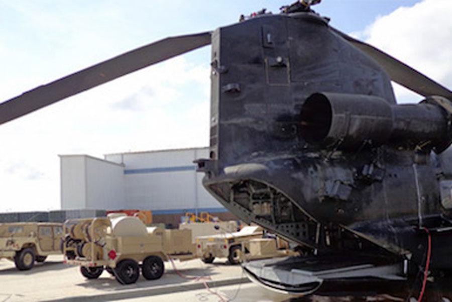 TAWS next to military equipment